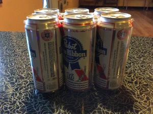 Beer Pabst Blue Ribbon 16 oz Cans